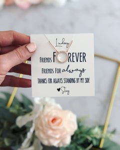 Friends forever friends for always necklace!