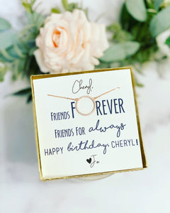 Friends Forever Birthday Necklace!