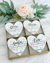 Bridal Party Pearl Necklace heart card!