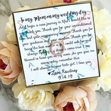 To my mom on my wedding day! Circle Pendant necklace!