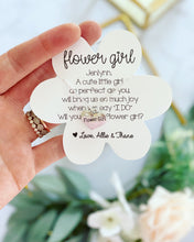 Engraved Flower Girl Necklace