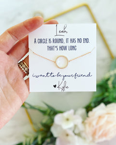 Infinity Circle Best Friend Necklace!