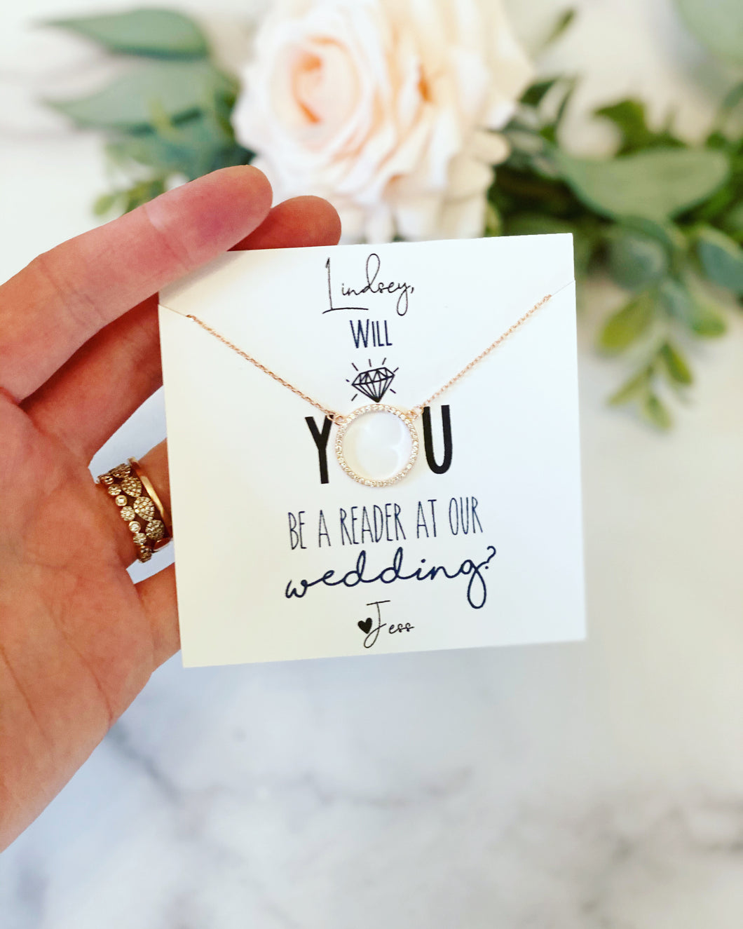 Will you be a reader at our wedding?