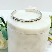 I'll love you forever Mother of the Bride Engraved Cuff Bangle!