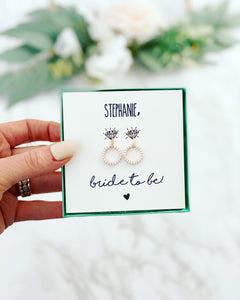 Soon I'll be a wife! Bride earrings!