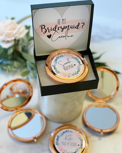 Compact mirror bridal party gift!