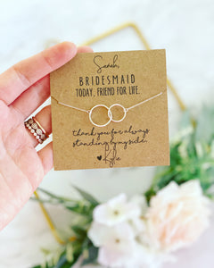 Bridesmaid gift! Infinity Necklace!