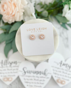 Bridesmaid today, friend for life Cubic Zircon Earrings and Heart Card!