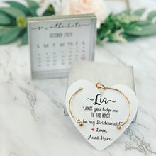 Save the date Bridal party proposal bangle & card!