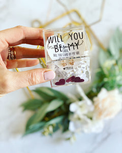 Will you be my... Knot earrings bridesmaid proposal gift!