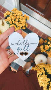 Hello Fall Heart stud Earrings! FREE SHIPPING