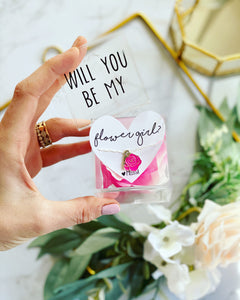 Will you be my... flower girl necklace and box!