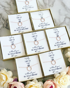 "Can't say ""I do"" without you! Circle Pendant Necklace!"