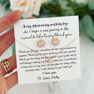 Mother of the Bride earring and necklace gift!