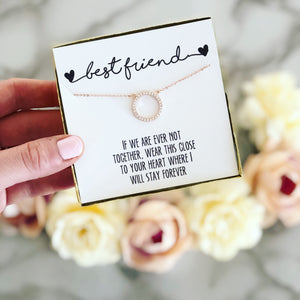 Best Friend Circle Pendant Necklace!