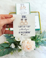 I can't say I do without you! CZ Earrings! Stunning!