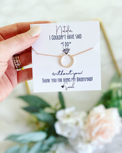 "Thank you for helping me say ""I do""! Circle Pendant Necklace!"
