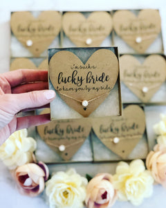 Lucky Bride Dainty CZ Necklace!