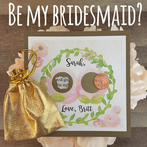 Be My Bridesmaid Scratch off Card!