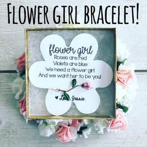 Flower Girl Rose Bracelet