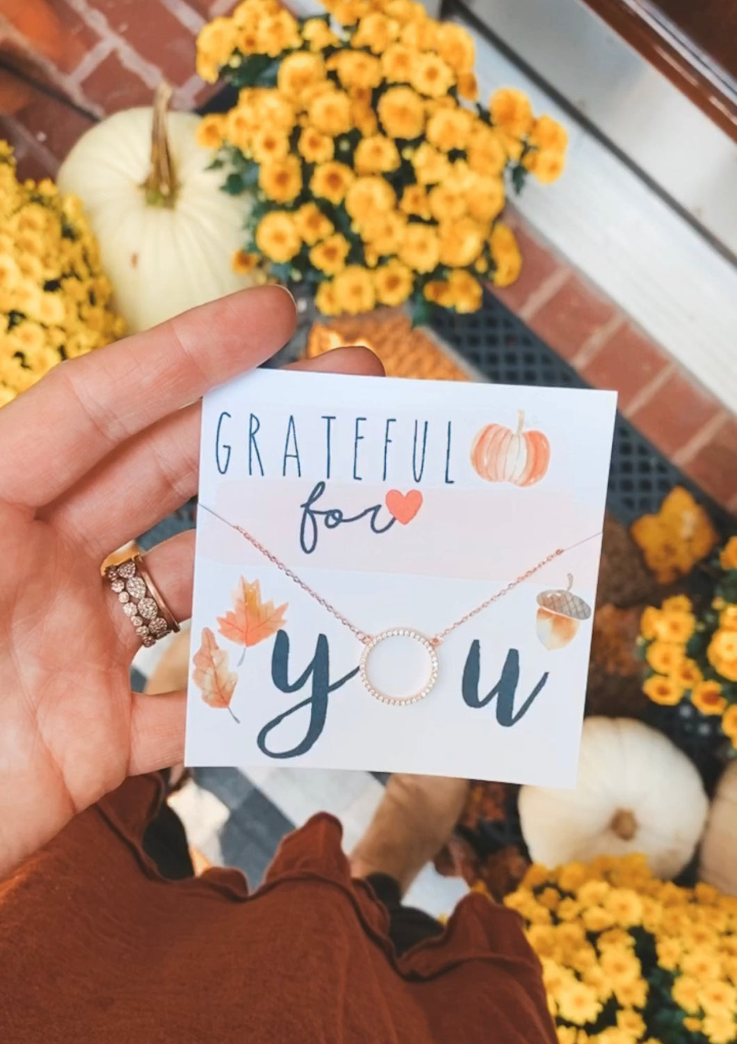 Grateful for you Circle Necklace! FREE SHIPPING!