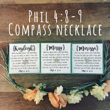 Encouragement Gift! Compass Necklace!