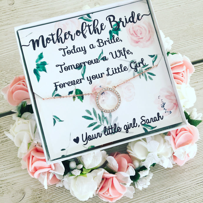 Mother of the Bride OR Groom Floral Card & Necklace!