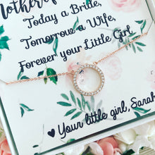 Mother of the Bride Floral Card & Necklace!