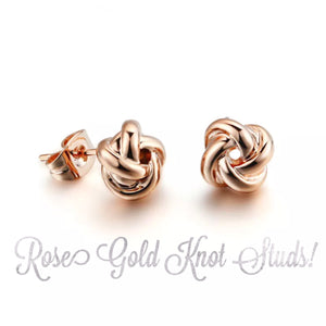 Bridesmaid Gift! Knot Earrings!