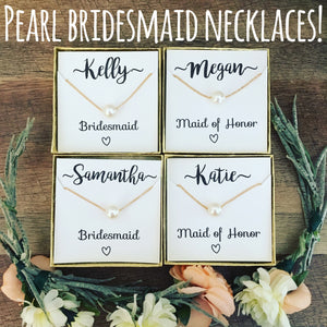 Bridal Party Pearl Necklace