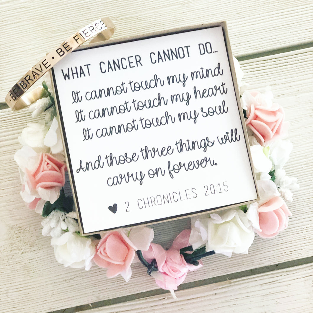 Be Brave, Be Fierce Cancer Encouragement Gift