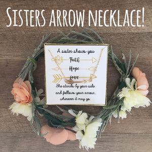 Sister/Best Friend Arrow Necklace!