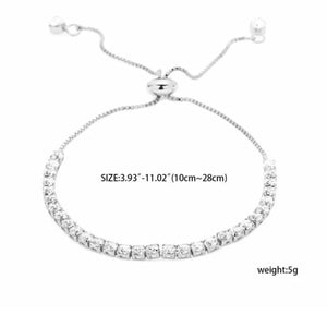 Cubic Zircon Necklace & matching bracelet set!