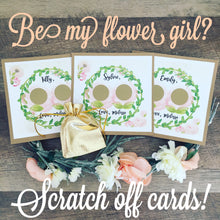 Be My Flower Girl Scratch off Card!