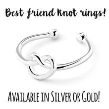 Best Friend Adjustable Knot Ring!