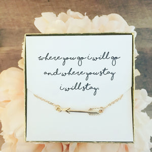 Encouragement Gift! Arrow Necklace!