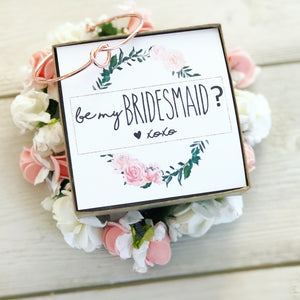 Be my Bridesmaid? Knot Bangle & Heart Card!