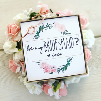 Be my Bridesmaid? Knot Bangle & Floral Wreath Card!