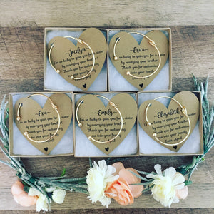Bridesmaid Knot Bangle & Heart Card!