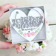 Best Friend Knot Bangle Floral Heart Card Personalized!