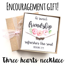 Encouragement Gift! Rose Gold or Silver heart necklace