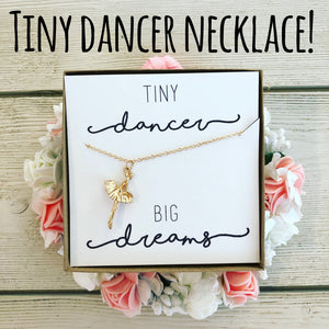 Tiny Dancer Necklace with Personalized Card!