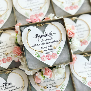 Knot Bangles Floral Heart Card