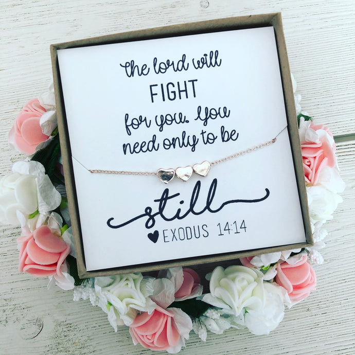 Bible Verse Encouragement Gift! Heart Necklace!