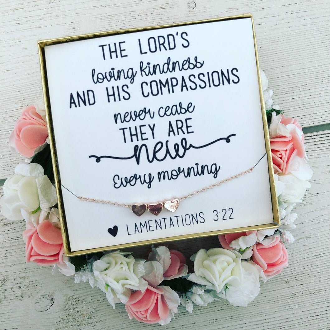 Bible Verse Encouragement Gift! Heart Necklace