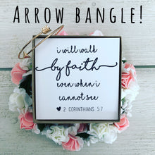 Bible Verse Arrow Bangle! Encouragement Gift!