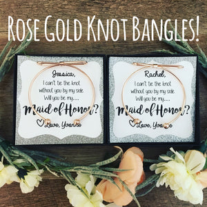 Rose Gold Bow Knot Bangles with Glitter Paper!