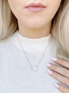 Now act SURPRISED! Circle Pendant Necklace!