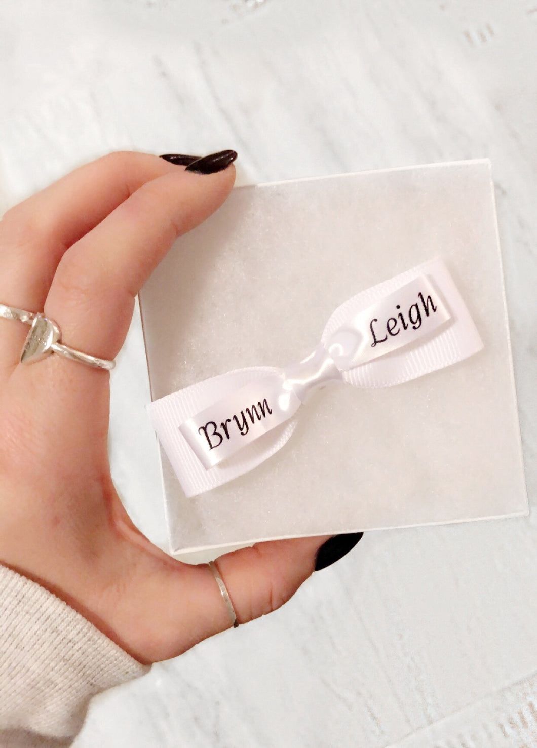 FREE SHIPPING * Personalized layered hair bow!