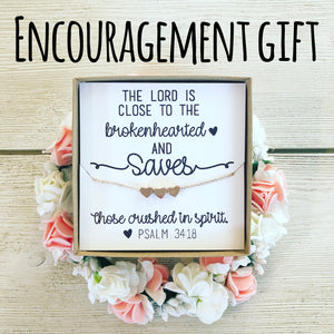 Encouragement Gift Heart Necklace